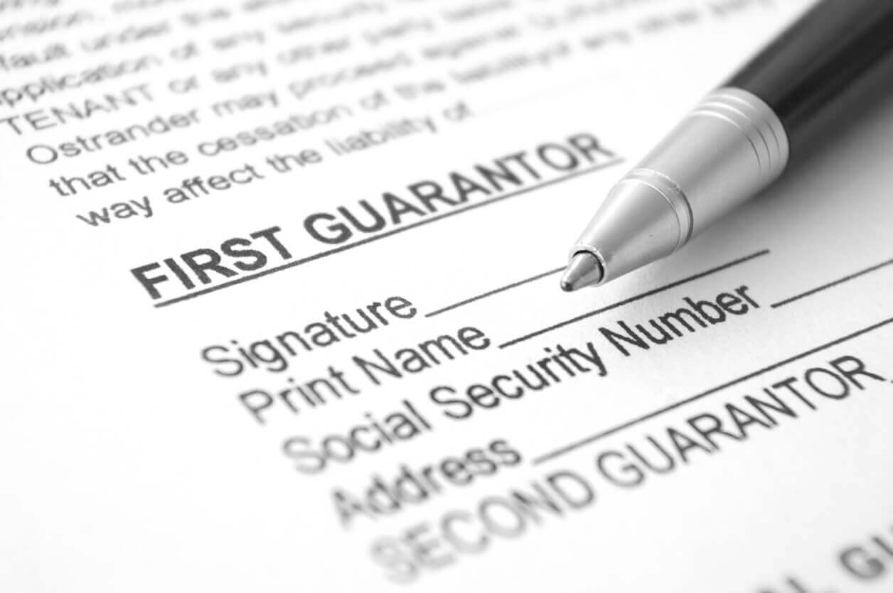 Guarantor loan document