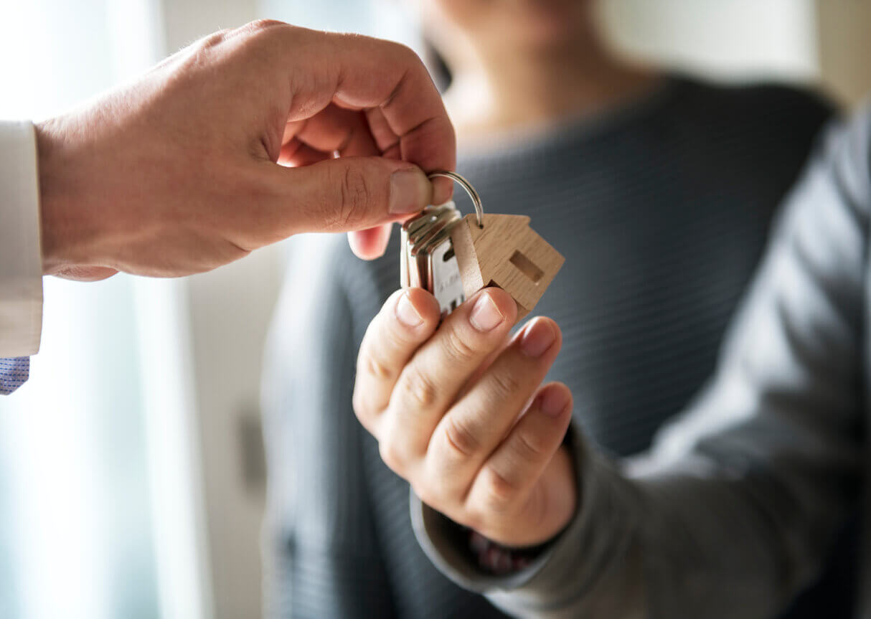 Handing the keys over to homeowner
