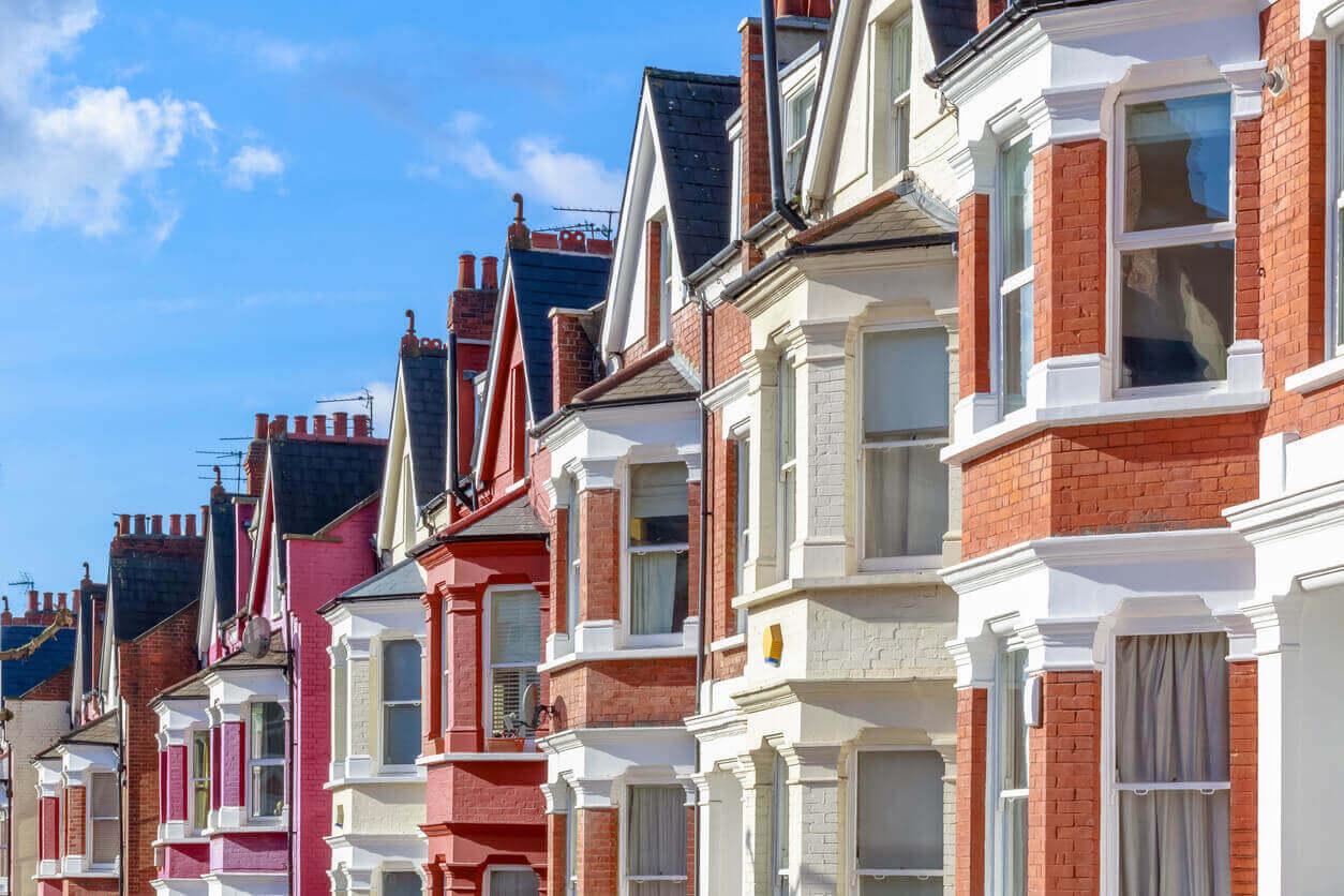 Row of British houses