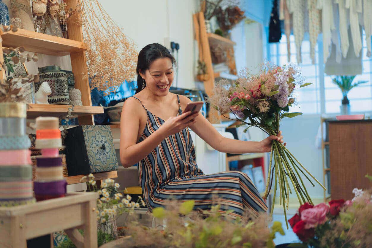 A self employed florist