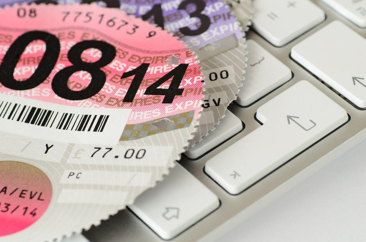 old tax disk - taxing car with temporary insurance