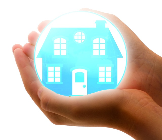 Home security products in hand