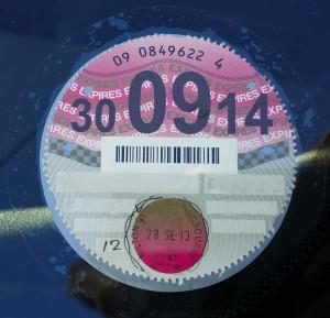 uk car tax disc