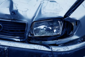 car accident - headlamp damage
