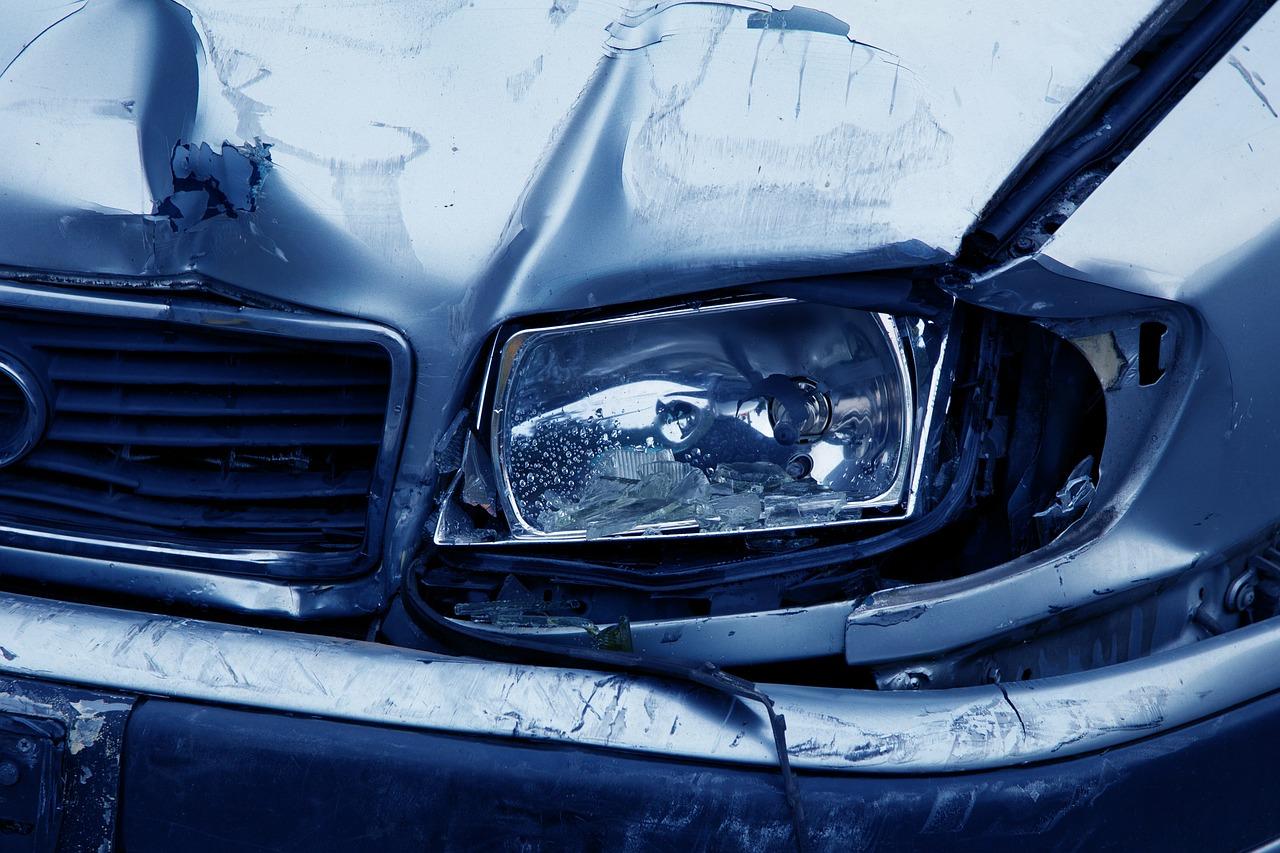 car accident - headlamp damage