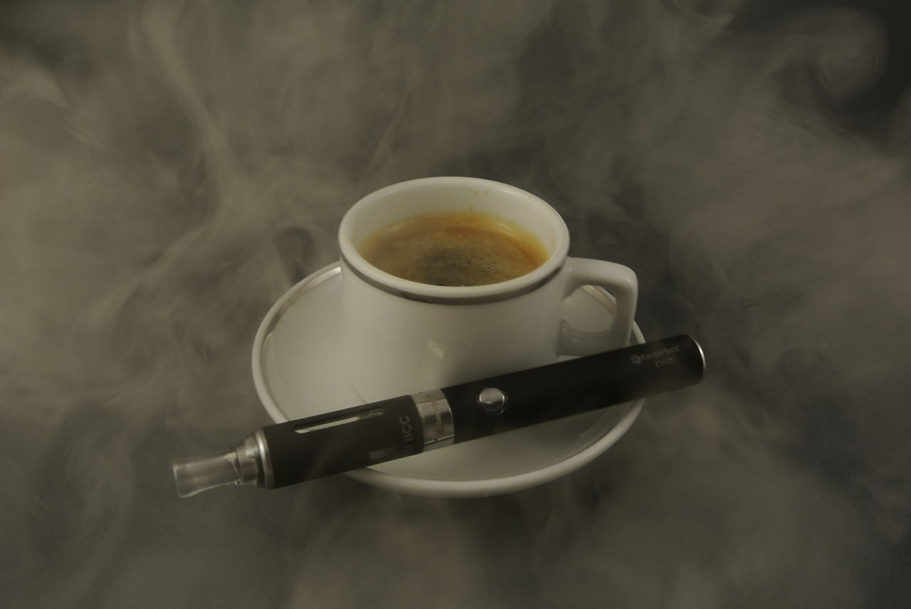 coffee and ecigarette