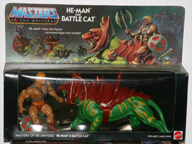 He Man and Battlecat action figure toys