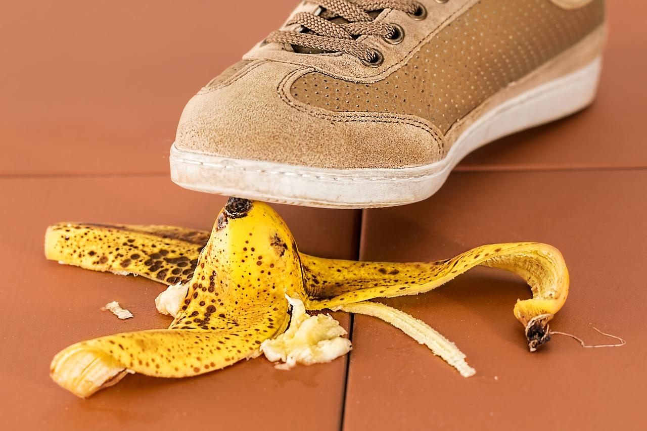 mistake banana skin