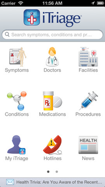 Aetna iTriage app