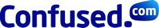 Confused logo blue