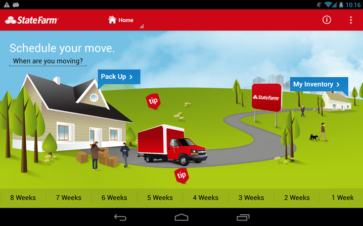 State Farms movetools phone app