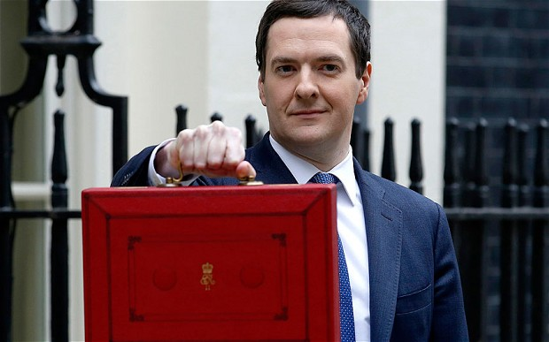 George Osborne with red budget case