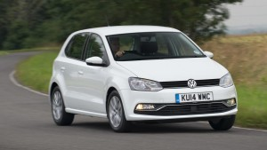 White VW polo car