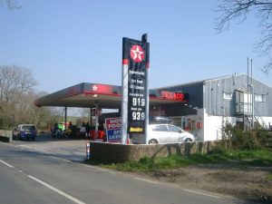 petrol station fuel pumps