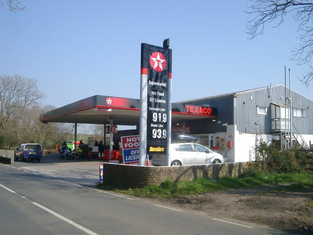 petrol station fuel pumps