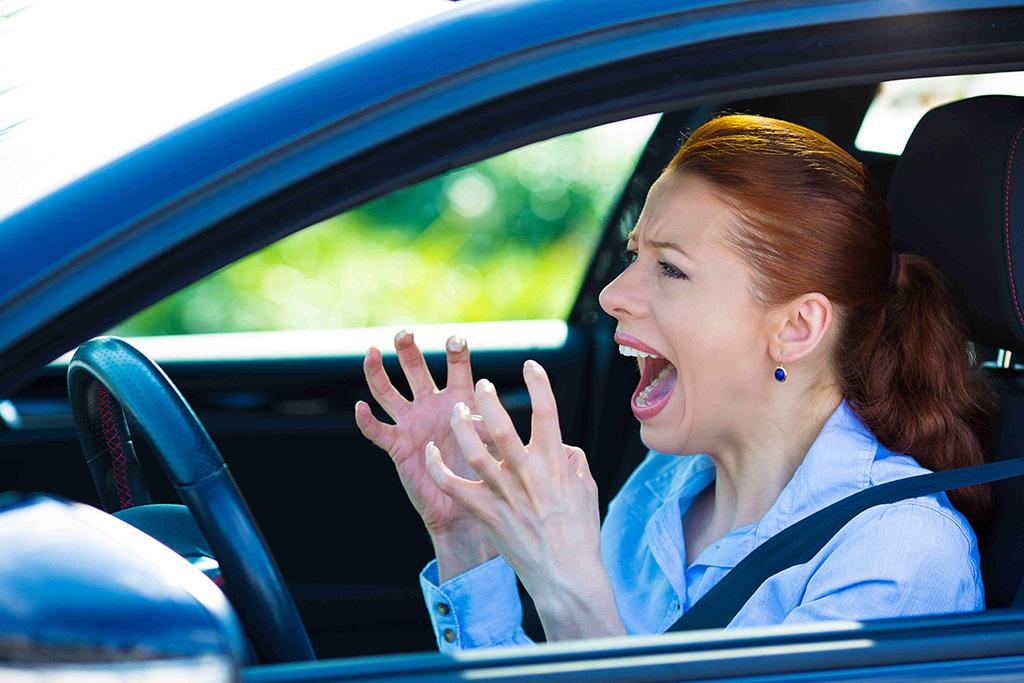 Road rage woman