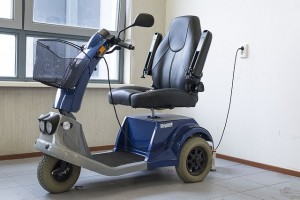 mobility scooter parked