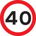 maximum speed 40mph sign