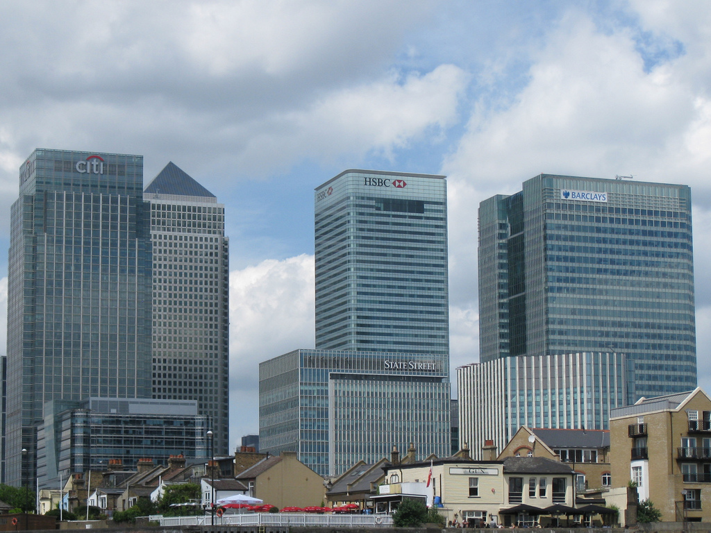 banks at canary wharf