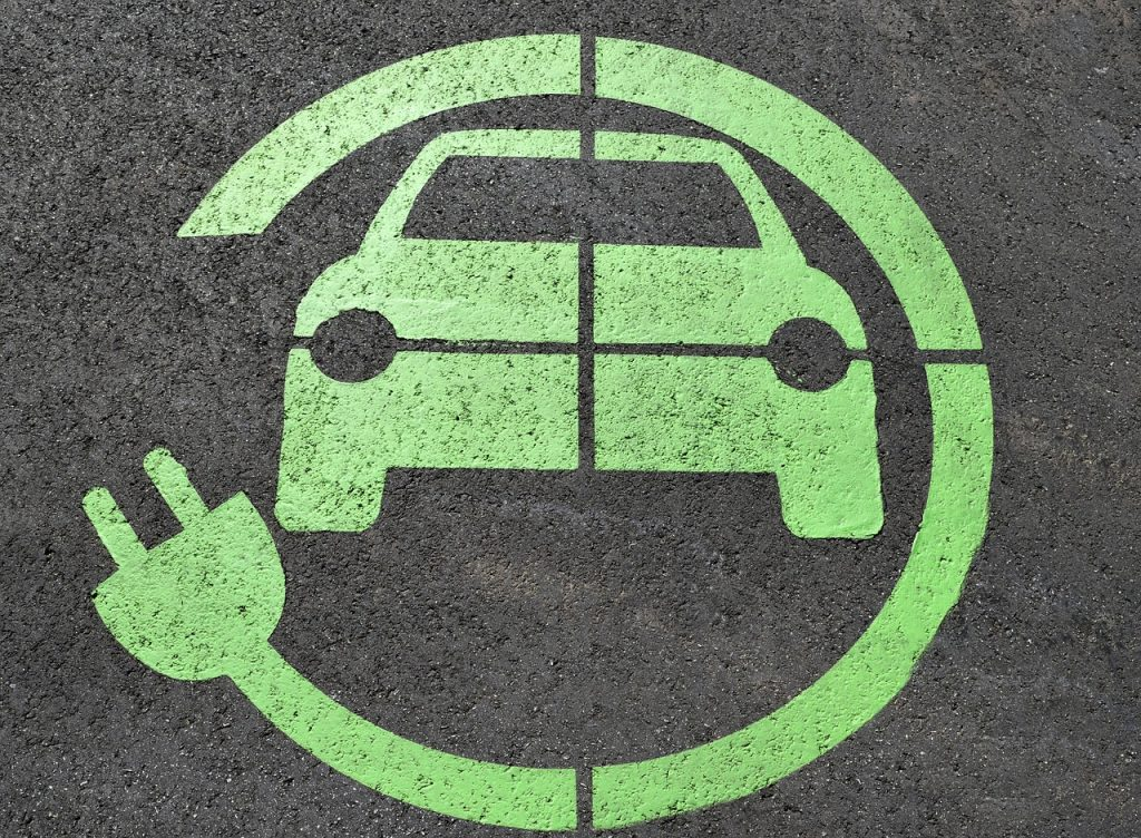 electric car charge sign