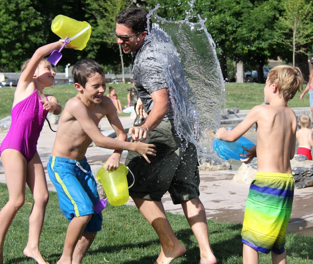children day out water fight