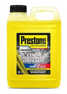Prestone screenwash bottle yellow