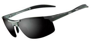 DUCO driving sunglasses in black with polarised lenses
