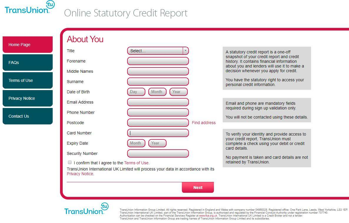 Statutory credit report