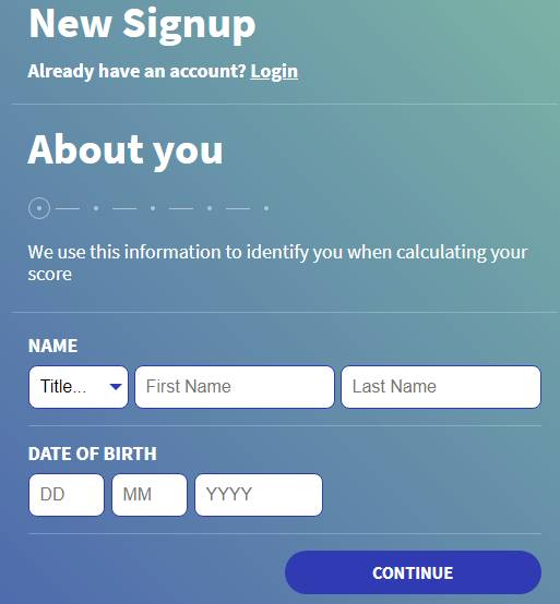 TotallyMoney sign-up form online