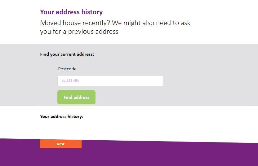 Address history