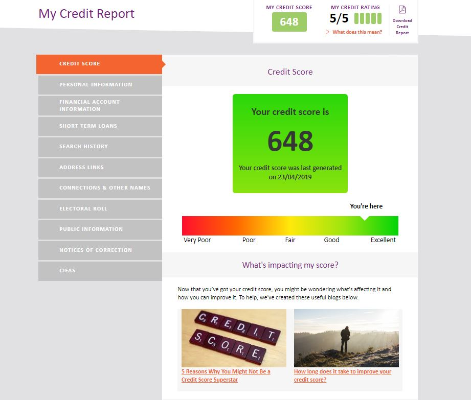 Noddle credit report