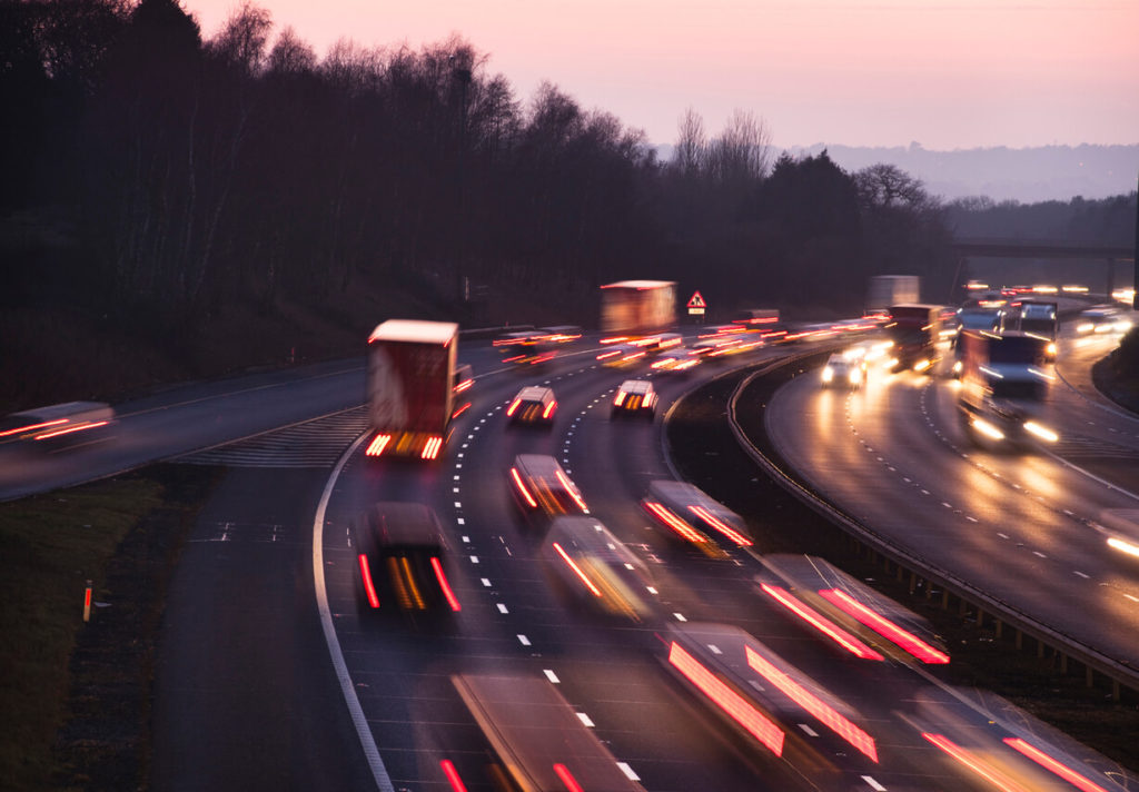 Traffic on the motorway