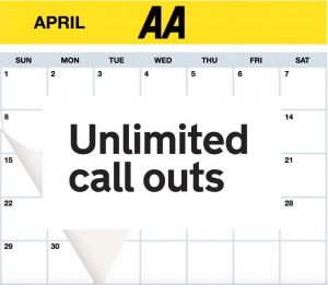 A calendar with the words 'unlimited call outs' in bold.