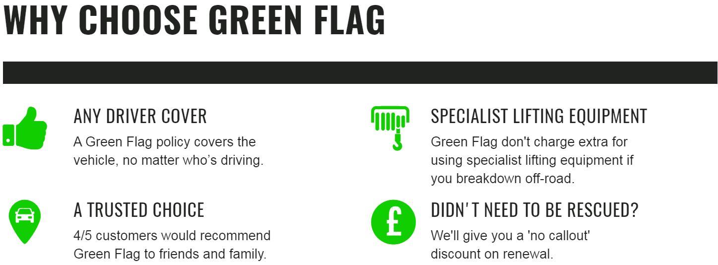 Why choose Green Flag?