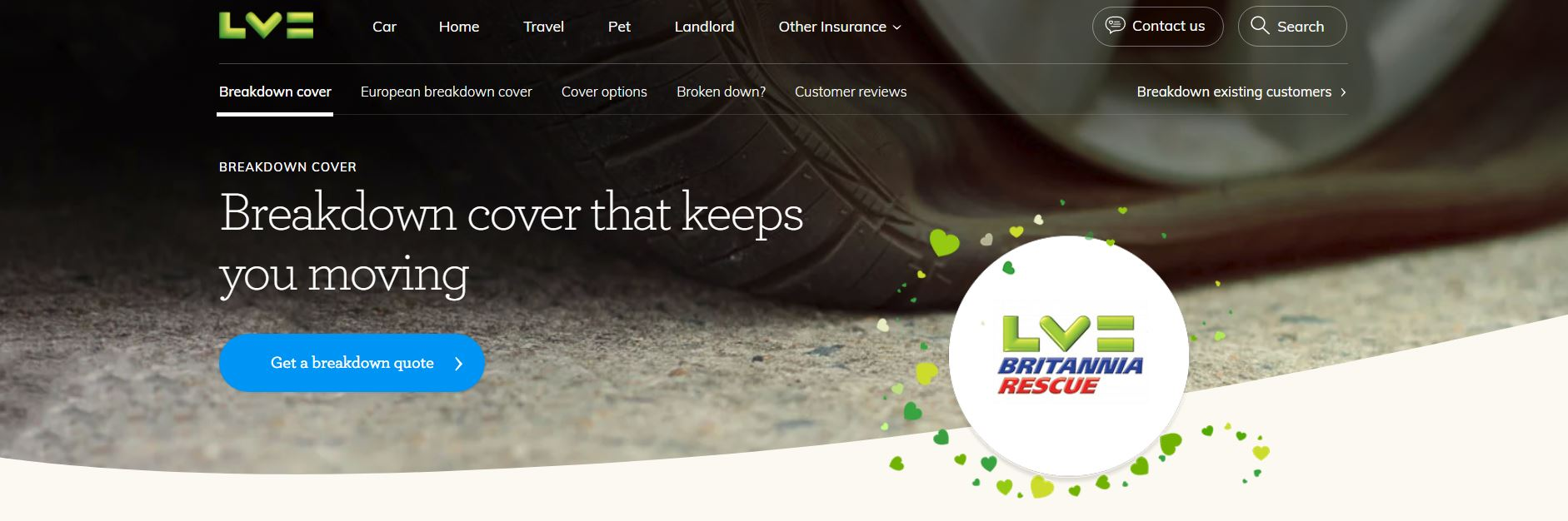 LV= Britannia Rescue website home page