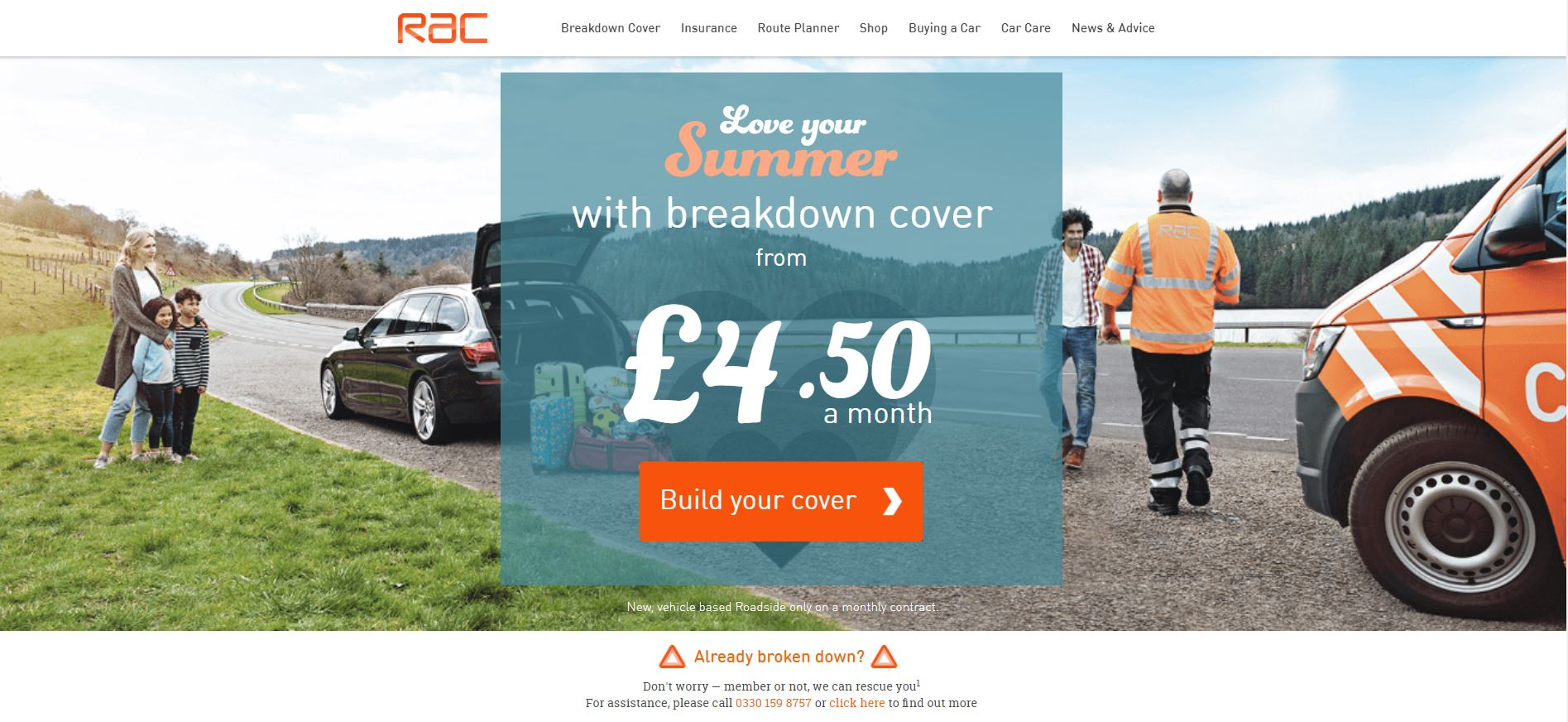 RAC website home page