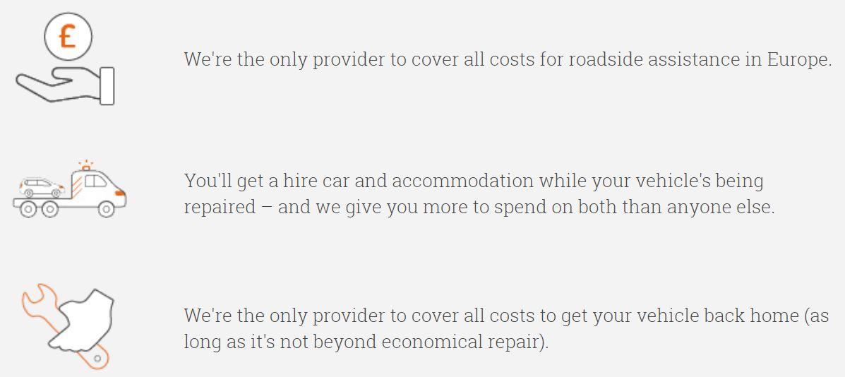 A screenshot of what RAC offer
