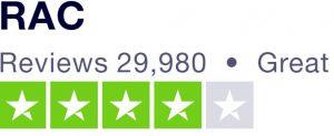 4 star rating on trust pilot