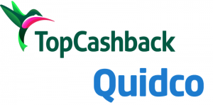Quidco and Topcashback logos