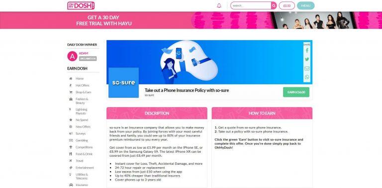 OhMyDosh Review – Make money online UK   https://bobatoo co uk
