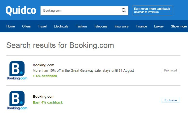 Booking.com sign-up stage 2
