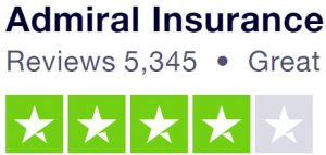Admiral Trustpilot 4 star rating
