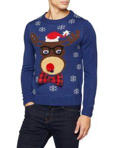 3D reindeer Christmas jumper