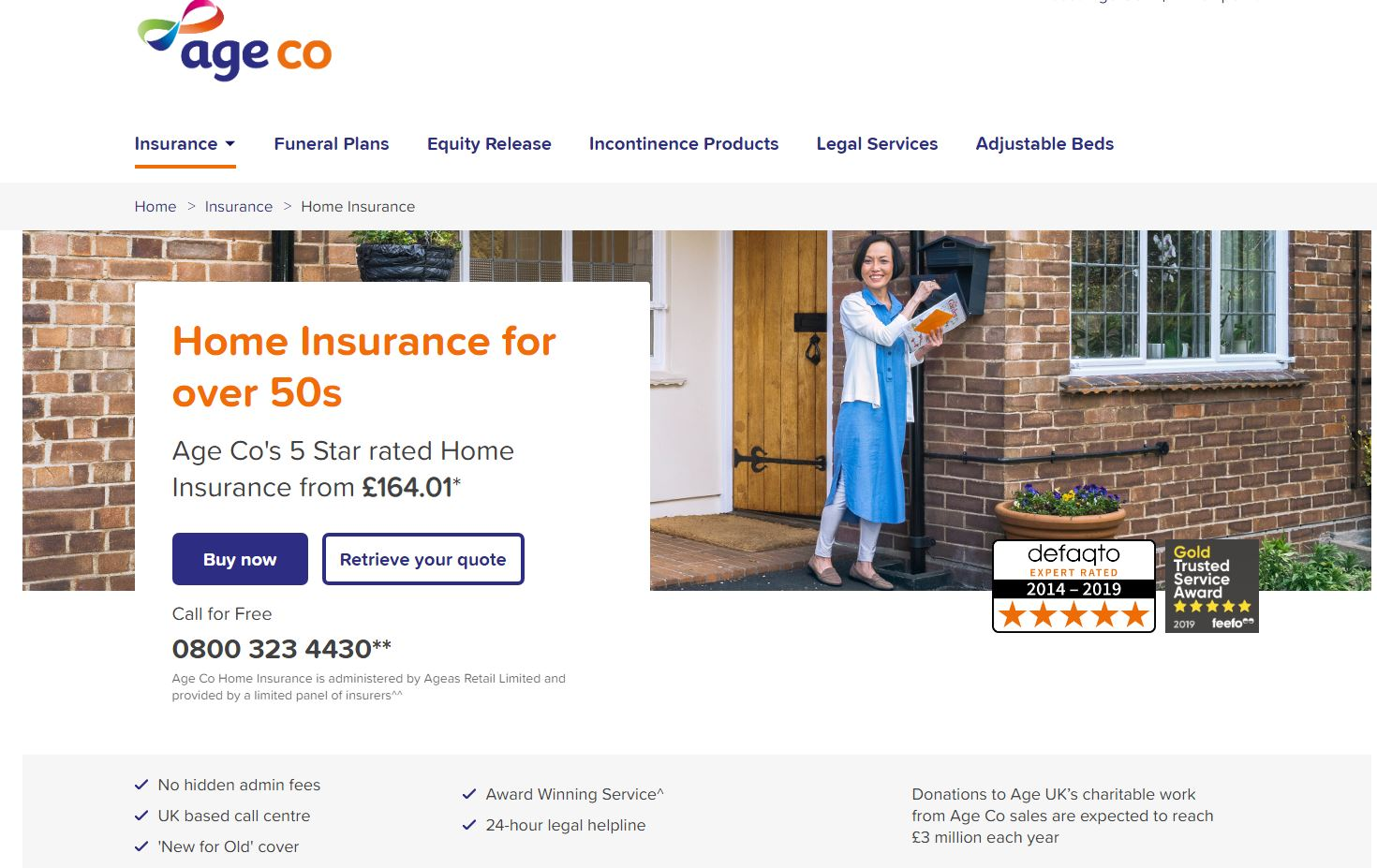 Age Co website homepage