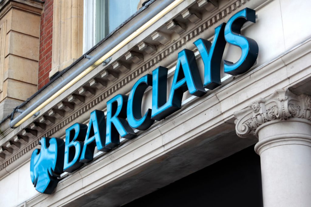 Barclays sign on building