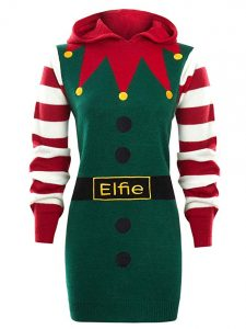 Elf Christmas jumper dress