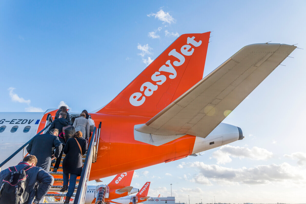Holiday makers board easyjet flights after thomas cook collapse
