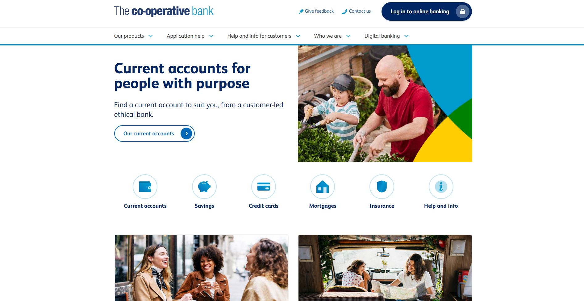 The Co-op website homepage