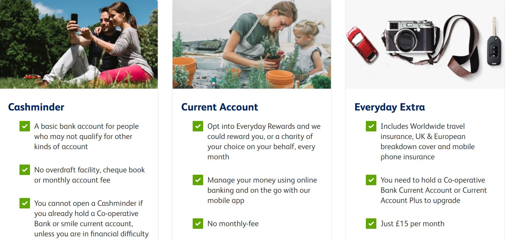 The Co-op current accounts details