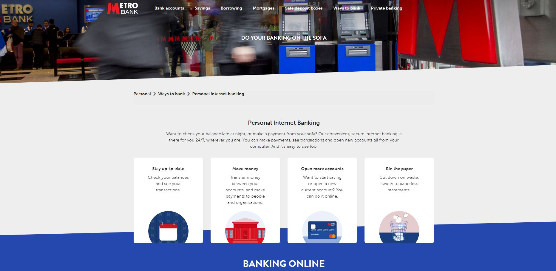 Details about Metro Bank's mobile banking